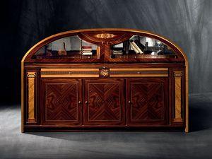 CR36 Hermitage, Aparador con incrustaciones semicircular con puertas plegables