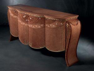 CR48 Vanity, Aparador de estilo clásico, en madera de nogal, para Salotti