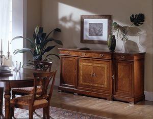 D 102, Chapeada aparador, en madera de cerezo, práctico y con estilo