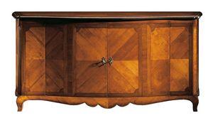 De Pisis RA.0647, Armario de nogal y cerezo, decorado en forma de espiga