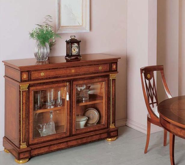 IMPERO / Sideboard with 2 doors B, Aparador de madera de fresno con cajones y puertas de cristal