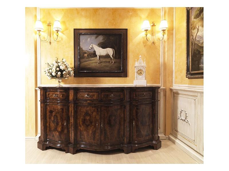 Lombarda sideboard 866, Armario para el comedor, de estilo clásico