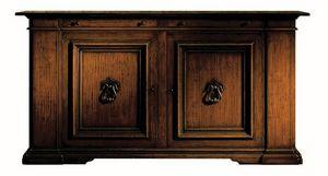 Montevarchi ME.0457, Armario renacimiento en madera de nogal con asas de hierro