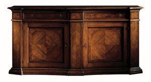 Pietrasanta ME.0466, Aparador de madera de nogal con adornos de espiga