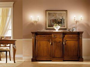 REGINA NOCE / Sideboard, Lujo Aparador clásico en madera maciza, para la sala