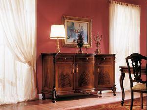 ROYAL NOCE / Sideboard with 3 doors, Aparador con incrustaciones en madera natural, para salas de estar