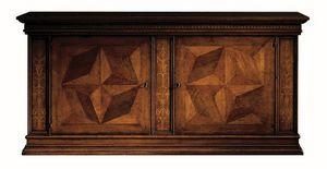 Scandicci ME.0450.B, Armario en madera de nogal con incrustaciones, los hoteles de lujo