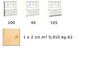 VAD/2, Aparador de estilo rústico, de madera, sala de estar