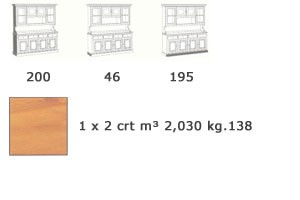 VAD/4, Aparador de madera maciza, para sala de estar rústica