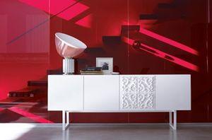 Adorna, Aparador lacado blanco, estilo moderno