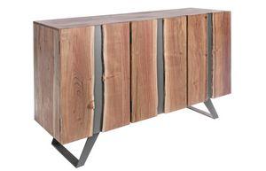 Aparador 3A Aron, Aparador en madera de acacia y metal