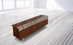 ATHENA 2.7 BC – MOGANO, Aparador de caoba fina, 4 puertas, disponible con diferentes combinaciones de madera