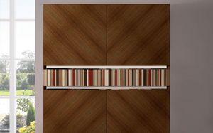 ATHENA QUADRA BC-TEAK, Aparador de teca, hecho a mano, 2 puertas, ideal para ambientes elegantes