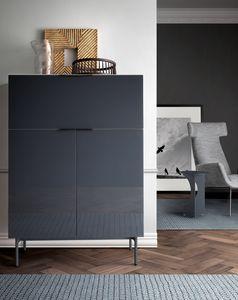 Brema, Armario para salas de estar, con sistema push-pull