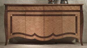 CR59 Charme, Aparador de madera con incrustaciones, los hoteles de lujo