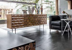 HONEY, Aparador de madera, con la decoración de la colmena, para sala de estar