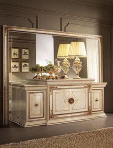 Leonardo buffet, Bufé clásico, acabado en pan de oro, 4 puertas