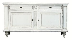 Mélanie BR.0007, Aparador con 2 puertas y 2 cajones, de estilo Luis XIV