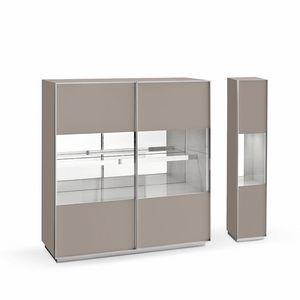 Miss A, Diseñar aparador, en vidrio y aluminio, para sala de estar