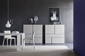Quadra, Gabinete para salas de estar con cajones sin tiradores