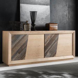 Spazio Contemporaneo SPAZE1051, Aparador con puertas de madera antiguas y compartimentos secretos.