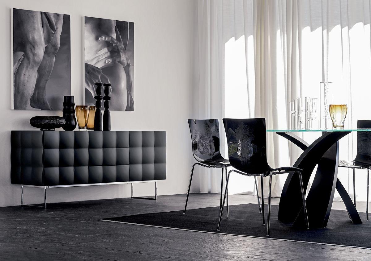 VENICE sideboard, Aparador en laminado recubierto con PVC, para la sala de estar