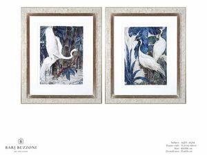 Art and Nature, white herons I - Art and Nature, white herons II - AQ33 - AQ34, Cuadros de acuarela con garzas