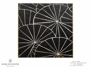 Black parasol – MT 609, Pintura geométrica