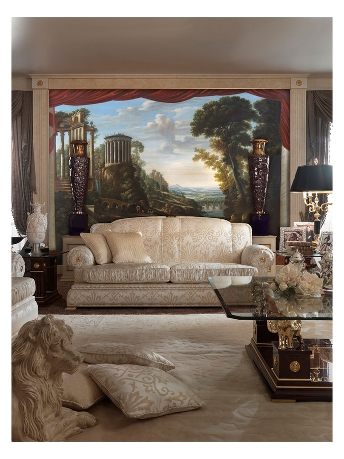 Caprice of italian landscape – SP 100, Gran óleo sobre lienzo