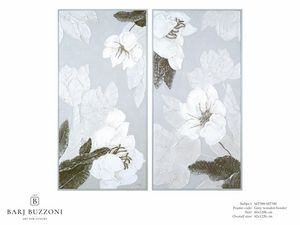 Delicate flowers I-II – MT 389-390, Cuadro floral efecto bajorrelieve