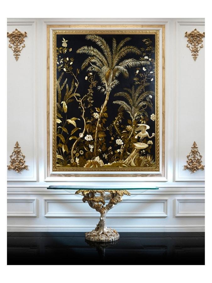 Lush exotic nature – H 3554, Pintura al óleo sobre lienzo