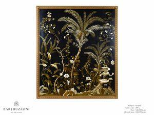Lush exotic nature – H 3554, Pintado sobre lienzo, con naturaleza exótica