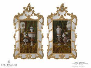 Murano goblet recollection – SP 428-429, Pintura al óleo, con marco de espejo