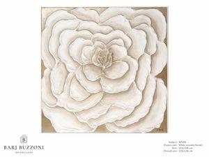 Rose, first dream – MT 492, Cuadro con gran rosa blanca