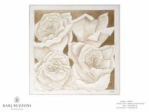 Roses, golden dream – MT 491, Cuadro con rosas, efecto bajorrelieve