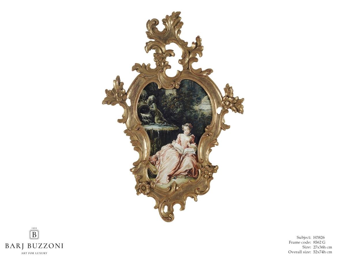 The expectation – H 3826, Cuadro con suntuoso marco tallado