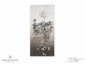 The woman fantasy – MT 495, Pintura contemporánea con mariposas