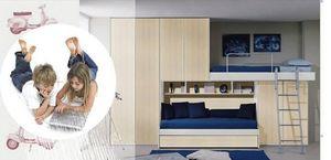 Niños Dormitorio 16, Los muebles del dormitorio de los niños, armario puente, cama extraible
