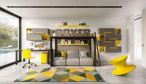 Boxer 1820, Habitación infantil con cama alta.