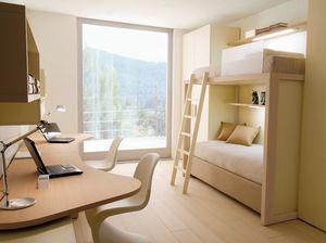 Boxer 7001, Habitación infantil con doble escritorio y litera.