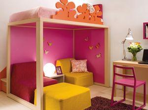 Boxer 7070, Dormitorio de niña con pantógrafo con flores.
