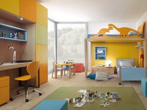 Boxer 9001, Dormitorio infantil con litera.