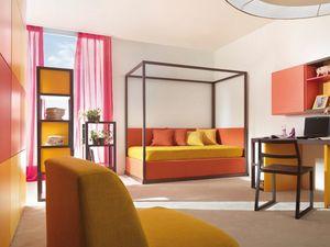 Boxer 9002, Dormitorio con segunda cama-nido.