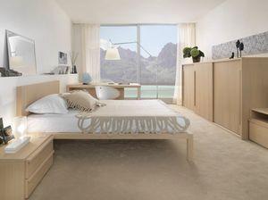 Boxer 9005, Mobiliario completo para dormitorio, con armario deslizante.