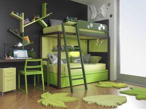 Boxer S012, Dormitorio para niños que ahorra espacio