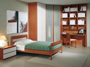 Camera Ragazzi 03, Dormitorio moderno para los niños, con armario de esquina