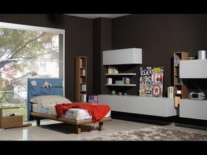 Climb Chicos 04, Dormitorio para niños, con muebles de estilo moderno