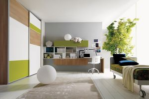 Comp. 105, Sala de chico compacto, colores sofisticados