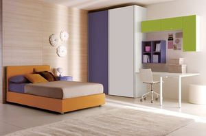 Comp. 106, Dormitorio de los niños personalizados, funcional y moderna