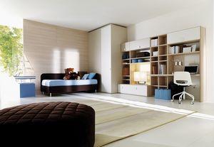 Comp. 107, Habitación de los niños con closet y gabinetes de pared